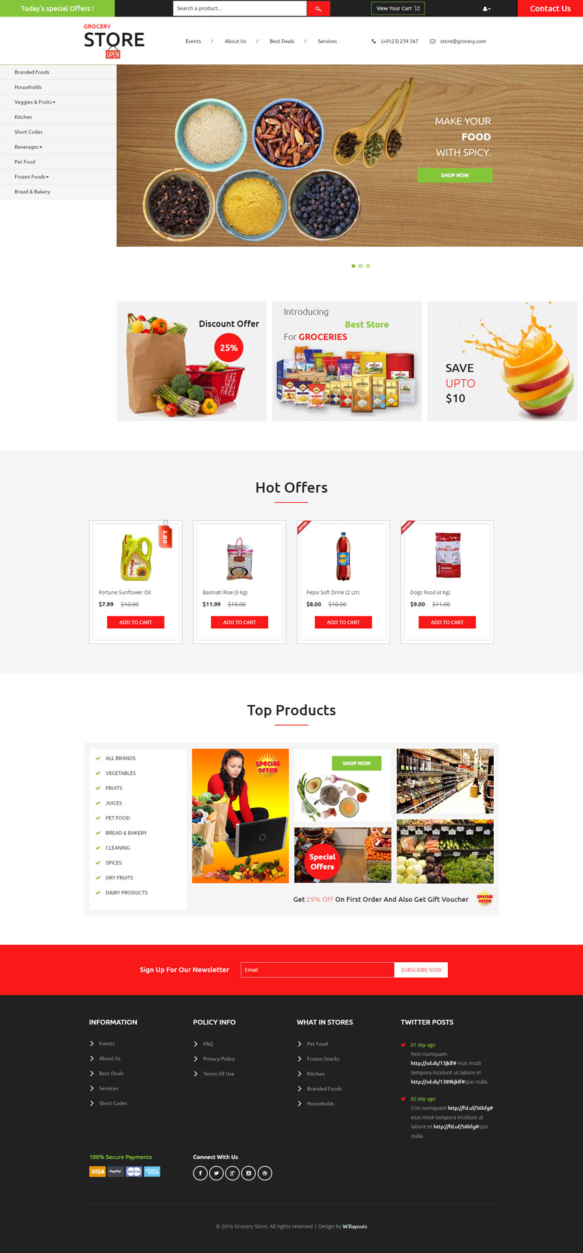 Grocery store grocery store an e commerce online shopping category flat bootstrap responsive website template conscientiously designed to surge your business prospects flashek Choice Image