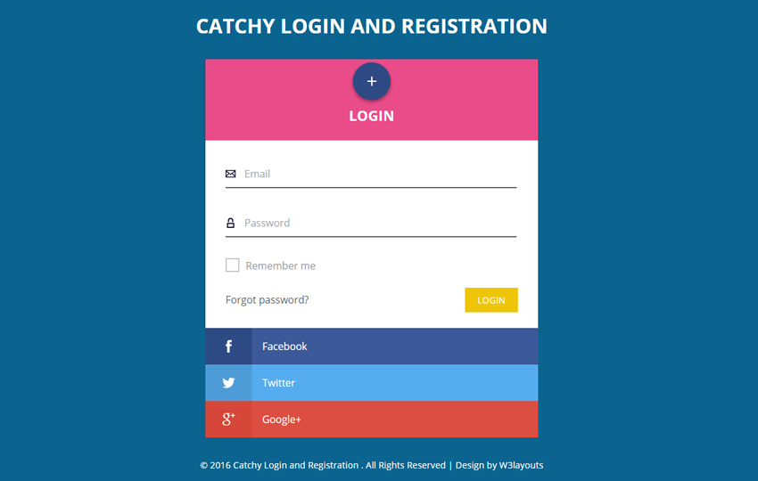 Catchy Login and Registration