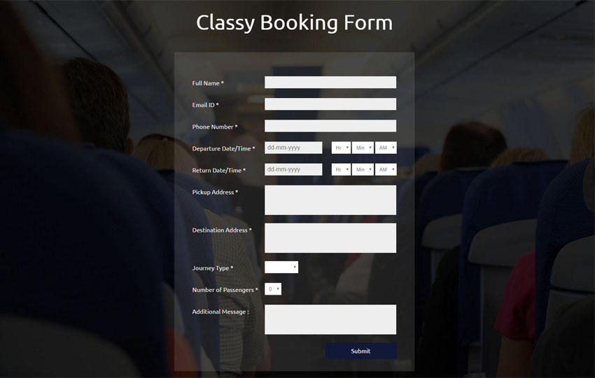 Classy Booking Form