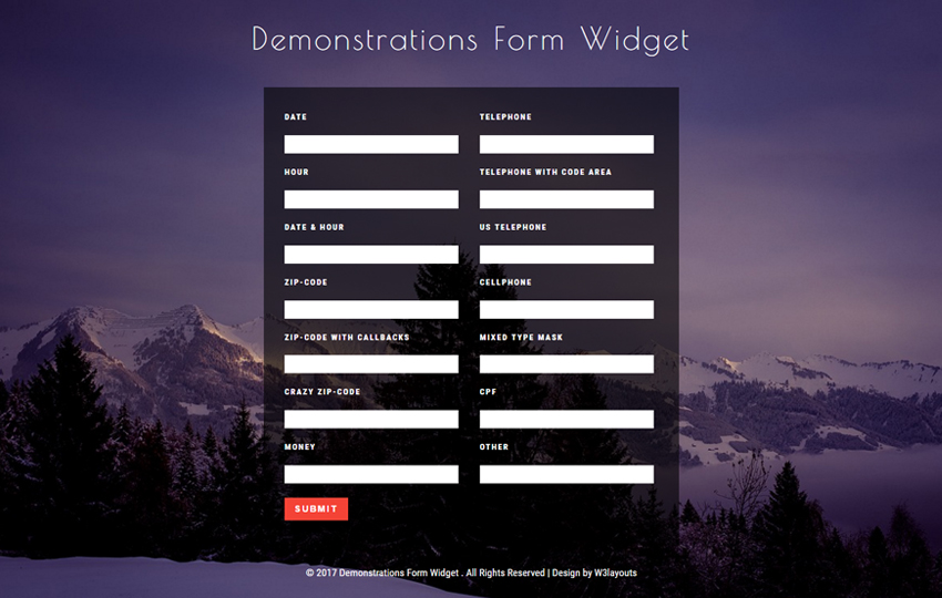 Demonstrations Form Widget