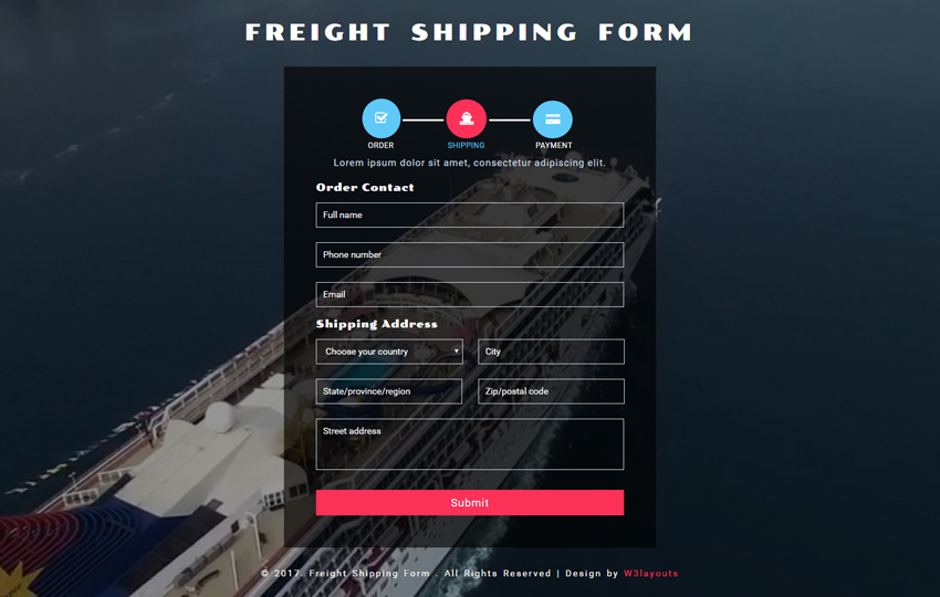 Freight Shipping Form