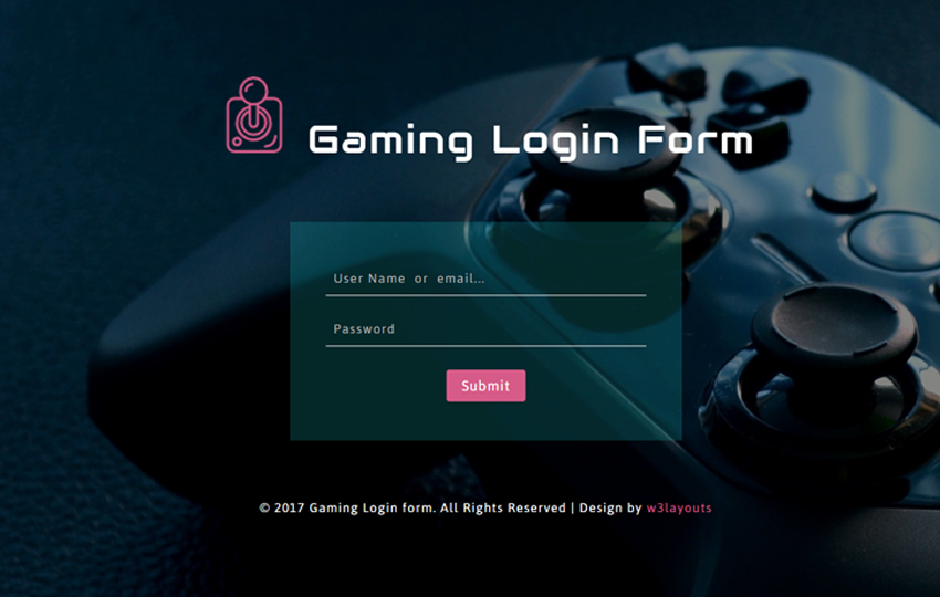 Gaming Login Form