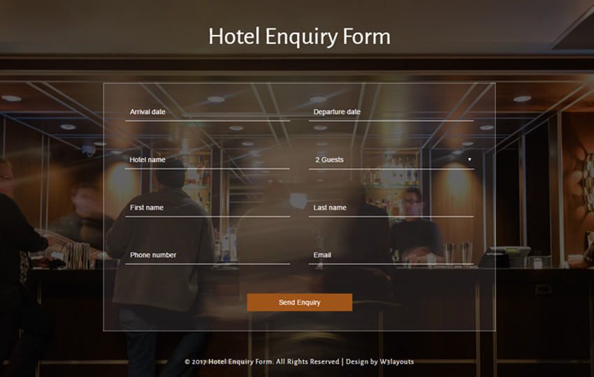 Hotel Enquiry Form