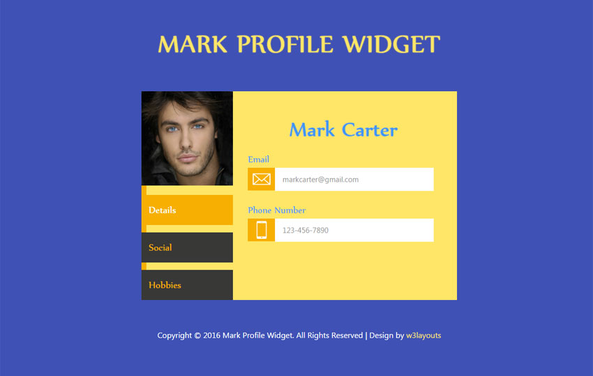 Mark Profile Widget
