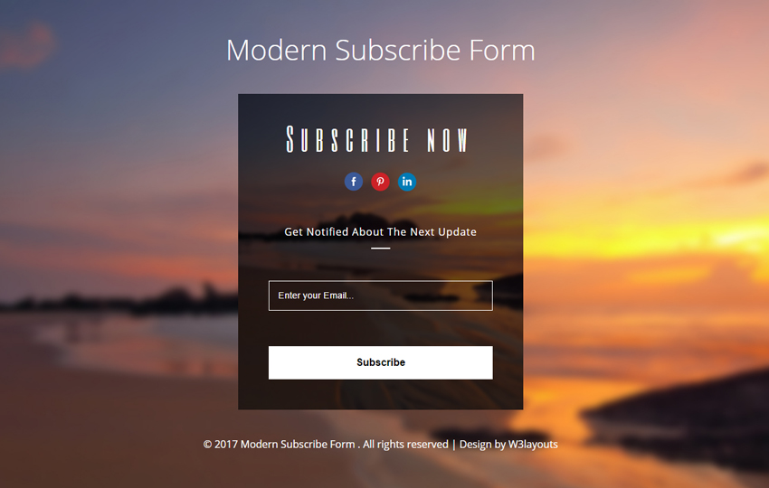 Modern Subscribe Form