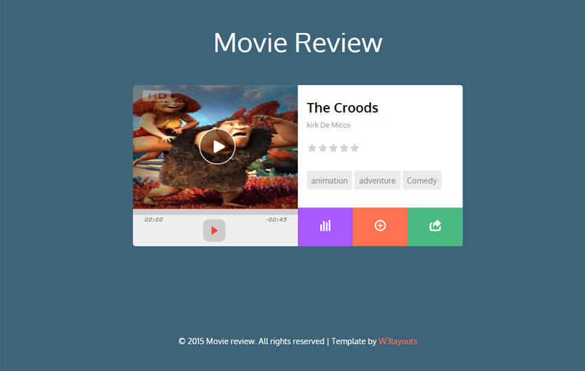 Movie Review Widget