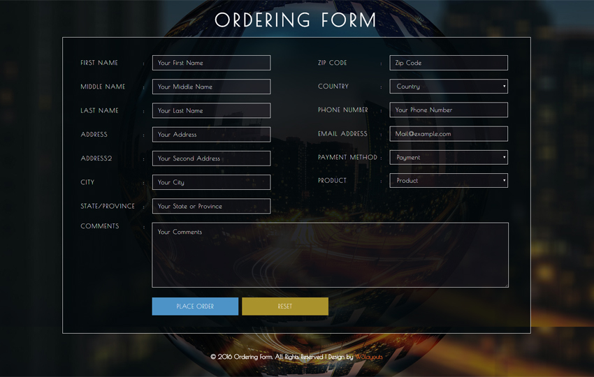 Ordering Form