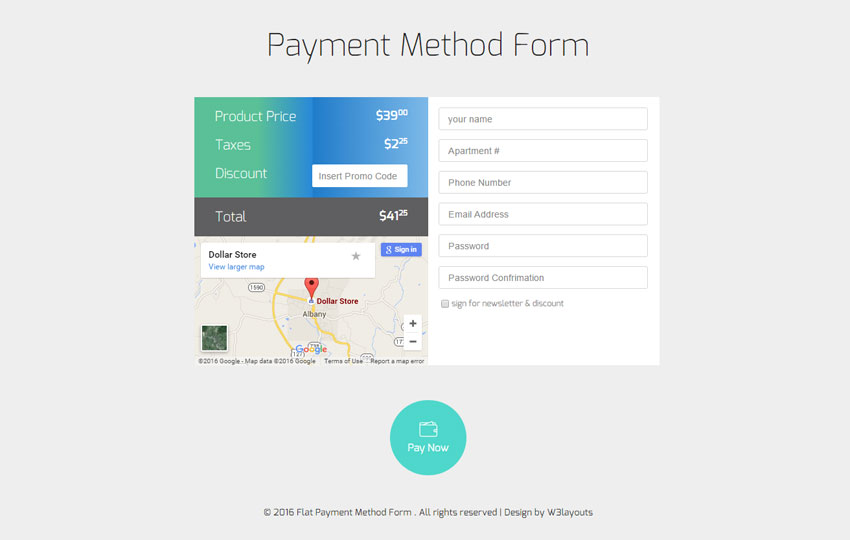 Payment Method Form