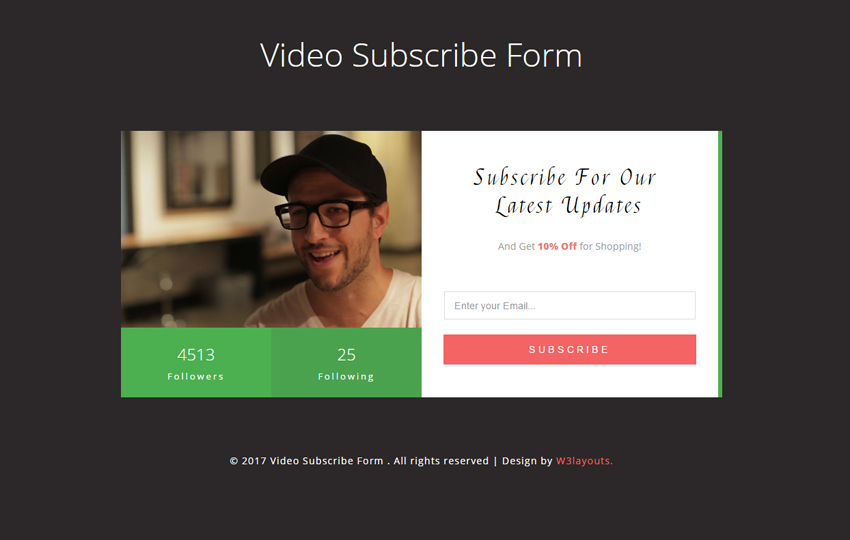 Video Subscribe Form